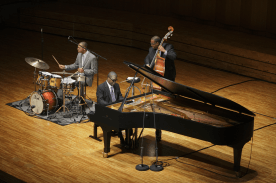 Photo of Marcus Roberts Trio Concert.